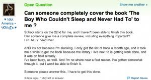 Author Humiliates Lazy Student Online, Creates Great Buzz