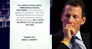 Manly Library in Sydney Lance Armstrong's books