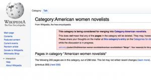 Wikipedia American Women Novelists