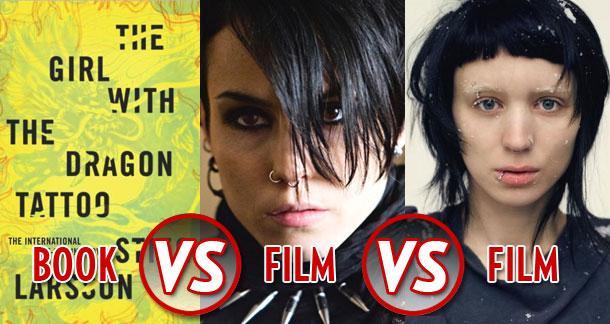 Book vs film vs film the girls with the dragon tattoos for Book series girl with the dragon tattoo