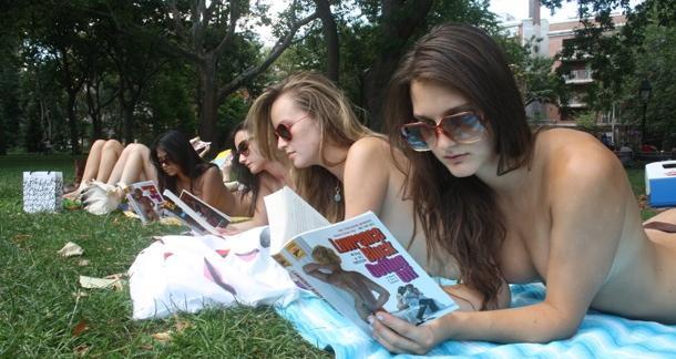 topless pulp fiction society york city photos