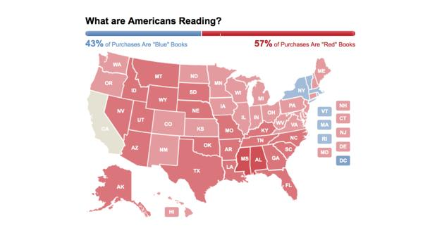 Amazon Creates Heat Map Of Political Book Sales