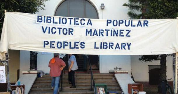 Makeshift People's Library In Oakland