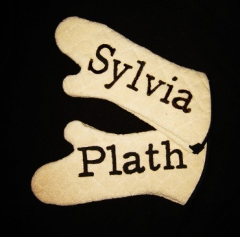 Sylvia Plath oven mitts