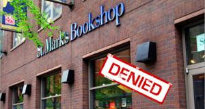 St. Mark's Bookshop request for a rent reduction was denied