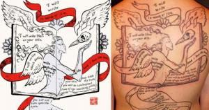 Neil Gaiman Writes Comic For Fan Tattoo