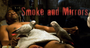 What are those parrots doing in 'Smoke & Mirrors' by Craig Clevenger?