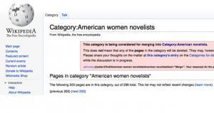 Wikipedia American Women Novelists