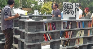 Protest Library in Gezi Park, Turkey