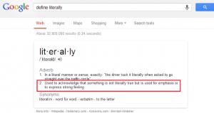 """Googling """"Literally"""""""