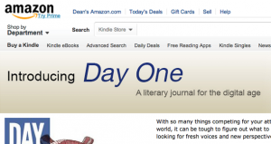 'Day One' - A New Literary Journnal for Kindle by Amazon