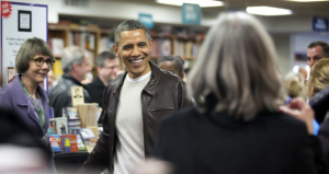Obama Supports Small Business Saturday at D.C. Bookstore