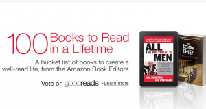 Amazon Releases List of 100 Books To Read In a Lifetime