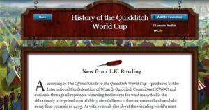 'A History of the Quidditch World Cup'