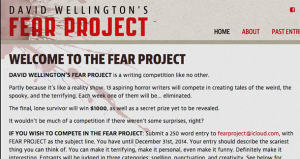 Writing Contest: David Wellington's Fear Project ($1000 prize)