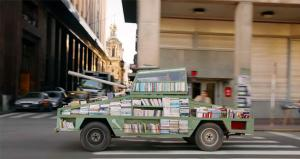 Artist Transforms Tank into Mobile Library