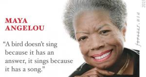 Maya Angelou Stamp Features Misquote