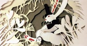 Artist Creates Incredible Alice in Wonderland-Themed Paper Art