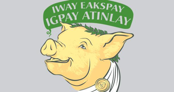 Pig latins alphabet