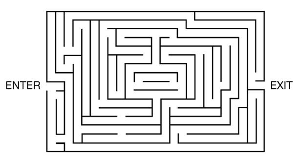 Number Names Worksheets simple maze for kids : The Escaping Character | LitReactor