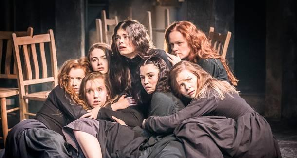 the american hysteria portrayed in the crucible Throughout the play the crucible, hysteria regarding witchcraft spreads  through  in the play accuse someone of being a witch in court, hysteria played a  role.