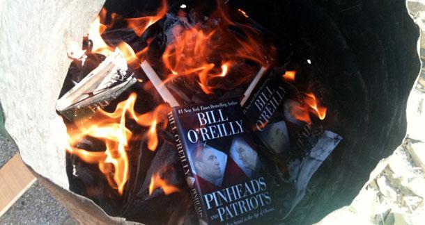 Bill O'reilly on fire
