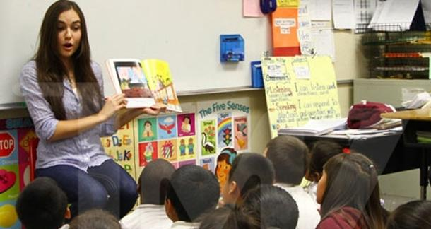 Sasha Grey participates in Read Across America