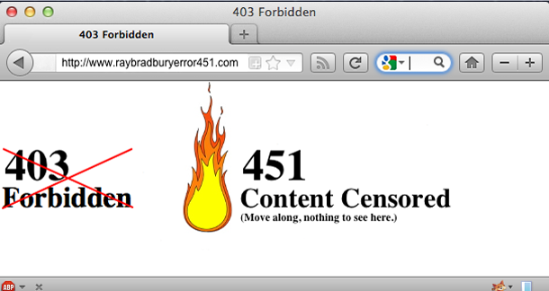 451 Ray Bradbury Internet Error
