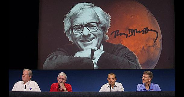 Bradbury Honored On Mars