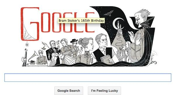 Google Celebrates Bram Stoker's 165th Birthday