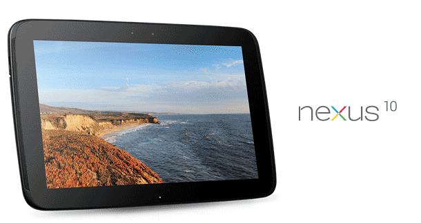 "Google's new 10"" tablet, the Nexus 10"