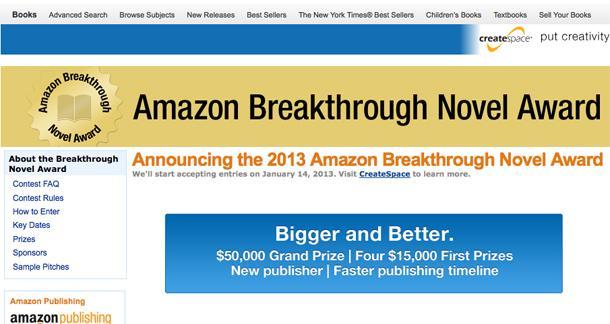 Amazon Breakthrough Novel Contest