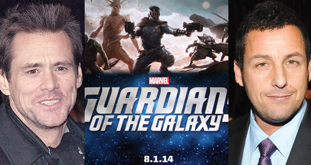 Carrey and Sandler Guardians of the Galaxy