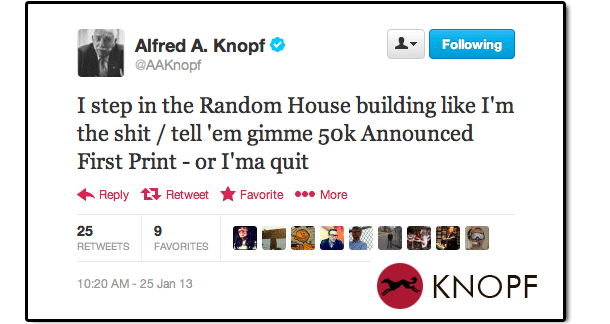 """Rogue"" Tweet From A.A. Knopf"