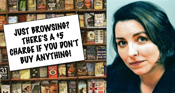 Victoria Barnsley thinks bookstores need to charge to browse