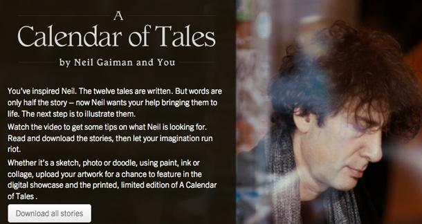 Neil Gaiman's Calendar of Tales Released
