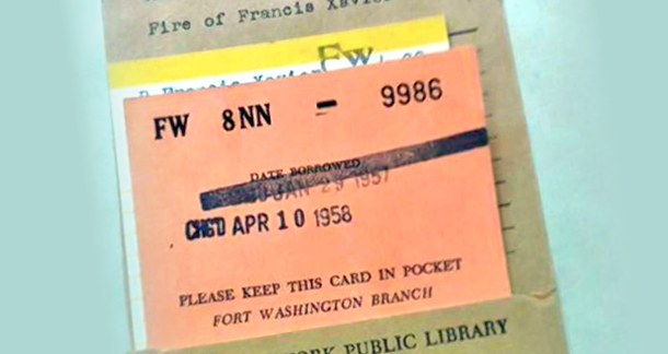 Book Returned to NY Library - 55 Years Overdue