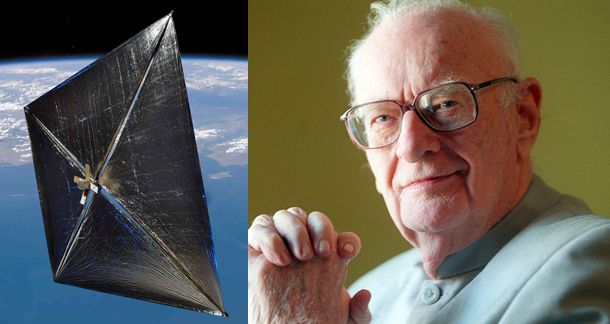 Arthur C Clarke's DNA in space