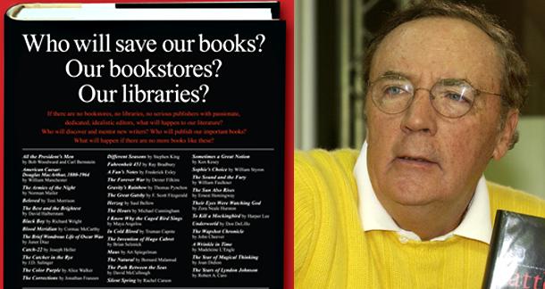 James Patterson Plans $1million Donation to Indie Bookshops