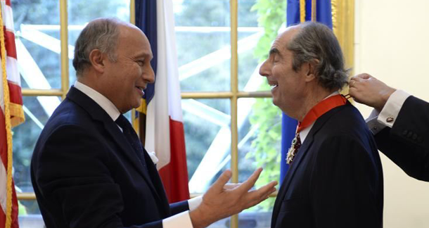 France Bestows Legion of Honor on Philp Roth