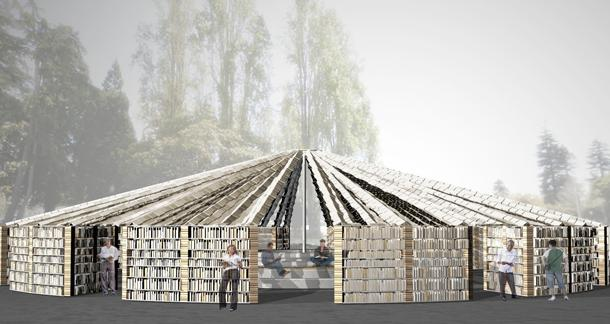 Library Made Entirely of Books