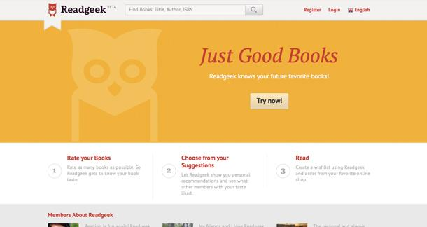 Let Readgeek Engine Decide What Book you should Read Next