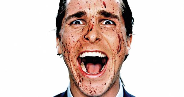 Christian Bale from the film adaptation of 'American Psycho'