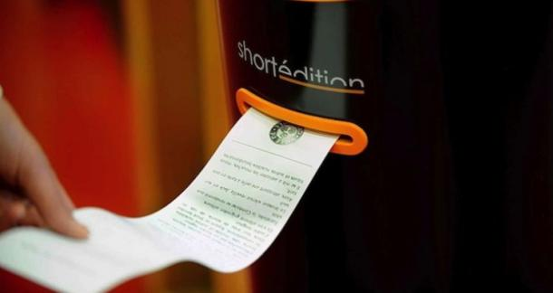 French City's Print-On-Demand Short Story Kiosks