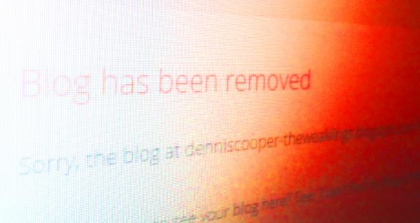 Dennis Cooper's Work Taken Down By Google