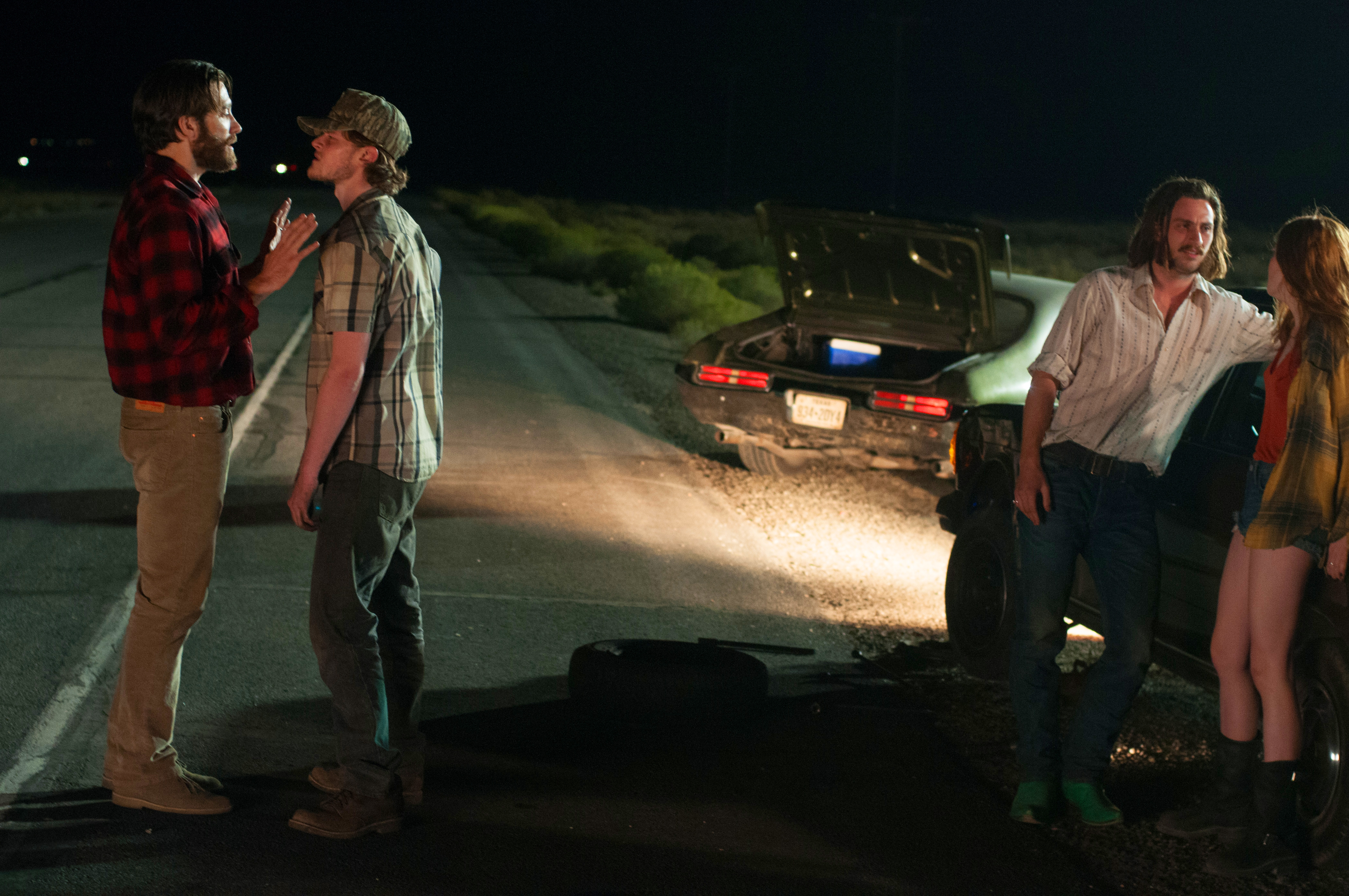 Image of: Ending The Highway Attack And Kidnapping Scene Plays Out Under An Eerie Green Glow Slightly Suggestive Of Nightvision Footage And The Wild Things That Crawl In The Schleicher Spin Book Vs Film tony Susan Vs nocturnal Animals Litreactor