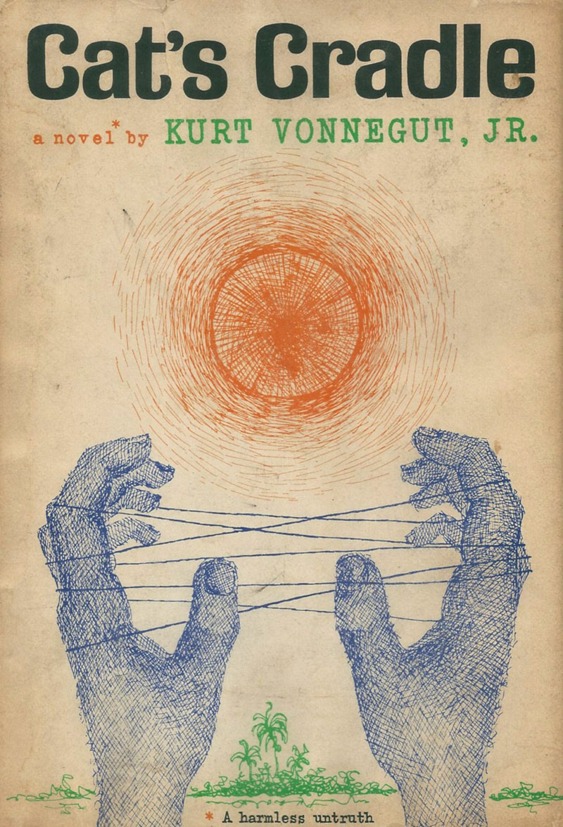 kurt vonneguts novel cats cradle essay Vonnegut uses cat's cradle to satire the ideas society holds about progress and  how  vonnegut uses a religion he created for the novel called bokononism to  convey society's misconceptions about the usefulness of truth  vonnegut, kurt.
